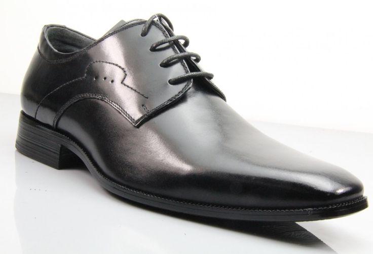 Fane Executive Derby Black Leather Shoes. #institchu #menswear #mensstyle #leathershoes