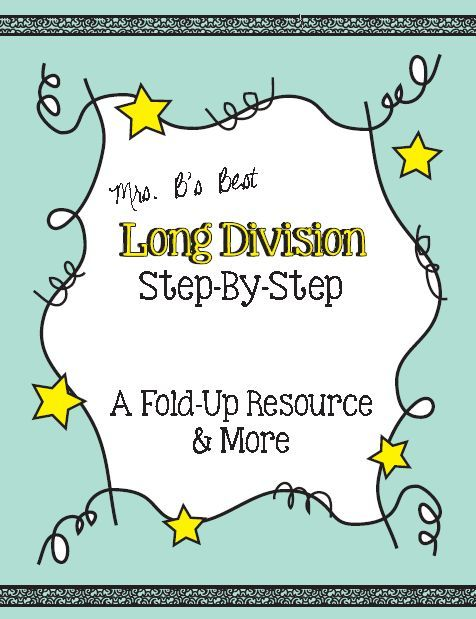 Wonderful resource for an interactive math journal or as a stand alone resource.  This product features the traditional long division algorithm.
