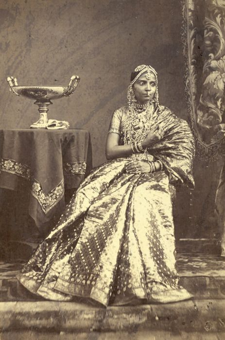 South Indian woman in traditional attire 1872