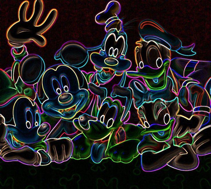 Neon Disney! Disney Pinterest