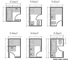 Les petites salles de bains (2 / 3 m²)   Studio d'archi