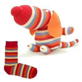 Animaux en chaussettes - Chiot chaussette