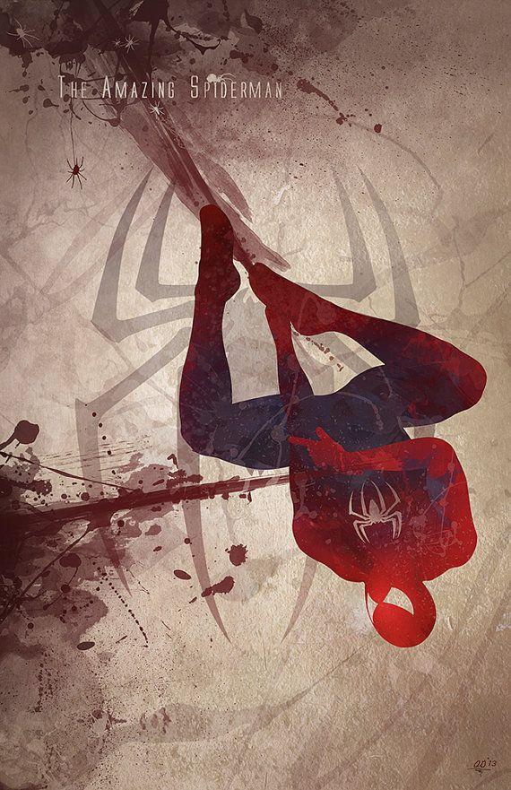 Silhouette Splatter Superhero Art ... Spider-Man /// via GeekTyrant