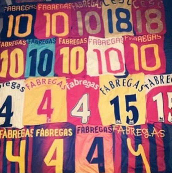 La collezione personale di Fabregas.