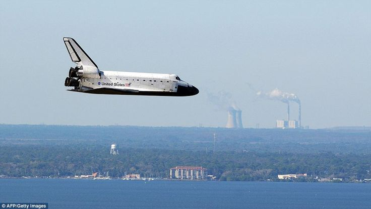 Space Shuttle Atlantis glides safely back into Cape Canaveral after ...