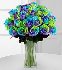 Pinwheel Patty Rainbow Roses - VASE INCLUDED