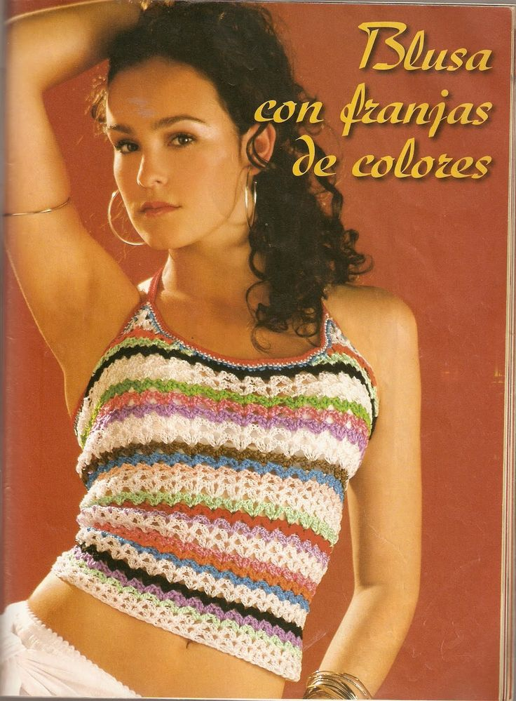 Mejores 97 imágenes de Crochet tops patterns - Patrones tops de ...