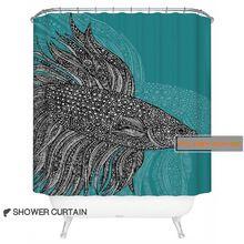 РУБИ Европейский стиль бойцовая рыбка дизайн занавески для душа для ванной 100% полиэстер водонепроницаемый 180x200 см (если заказ, дать вам один мат)(China (Mainland))
