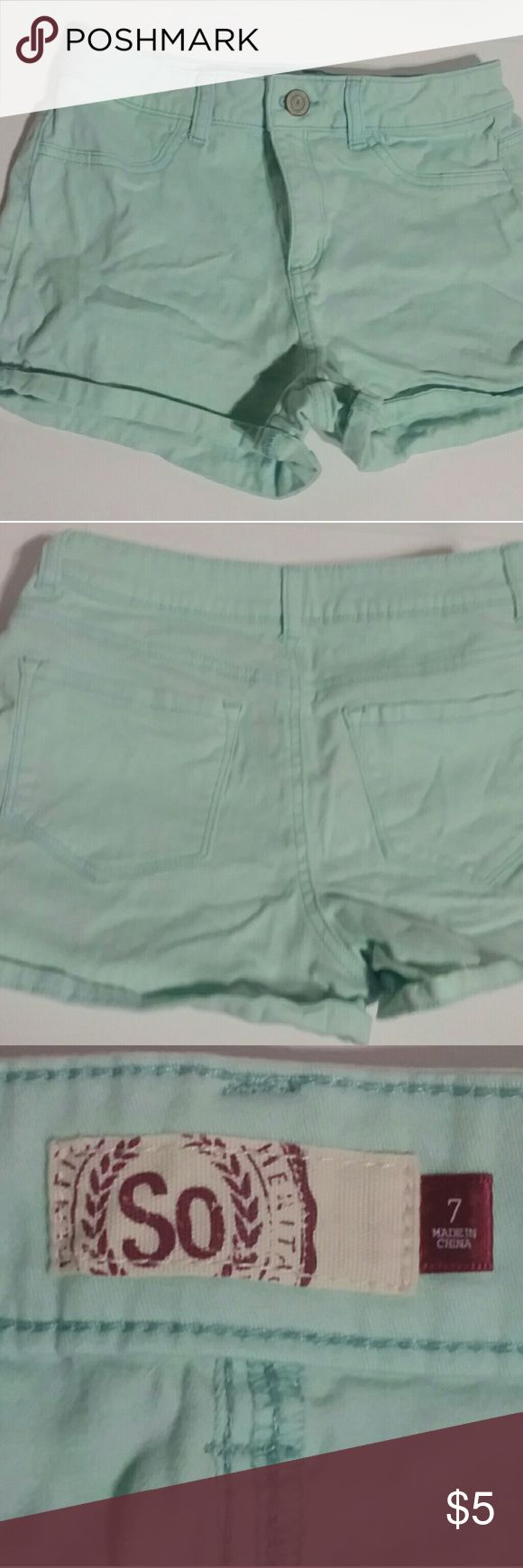 💚So girls juniors shorts💙 😍Cute So American heritage Juniors teal shorts😊 Girls size 7 Feel free to ask any questions Thank you!💜 So Shorts Jean Shorts