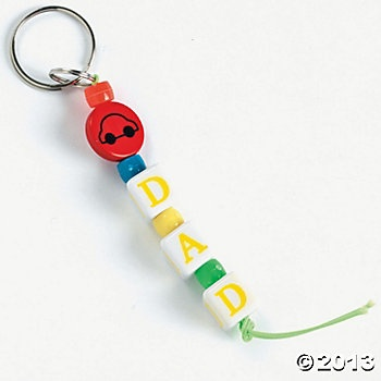 "mother's day keychain craft | Beaded ""Dad"" Key Chain Craft Kit - Oriental Trading"