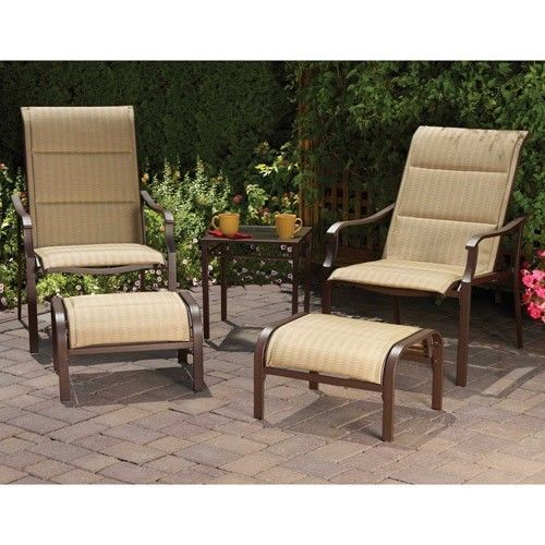 5 Piece Outdoor Leisure Set Includes Chairs Ottoman And A Table