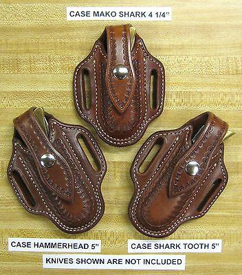 Custom Pancake Sheath Case Sharktooth, Hammerhead, Mako Folding Knife   (Choice)