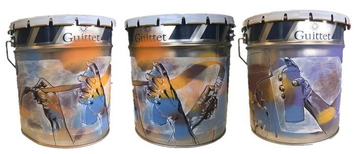GUITTET s'est associé, via son distributeur Station Peinture, à We Records & Size, une association d'artistes marseillais dont le but est d'amener l'art dans les cités.  A cet effet, l'artiste Cros 2 aka Vincent Landry a relooké un fût de peinture GUITTET.