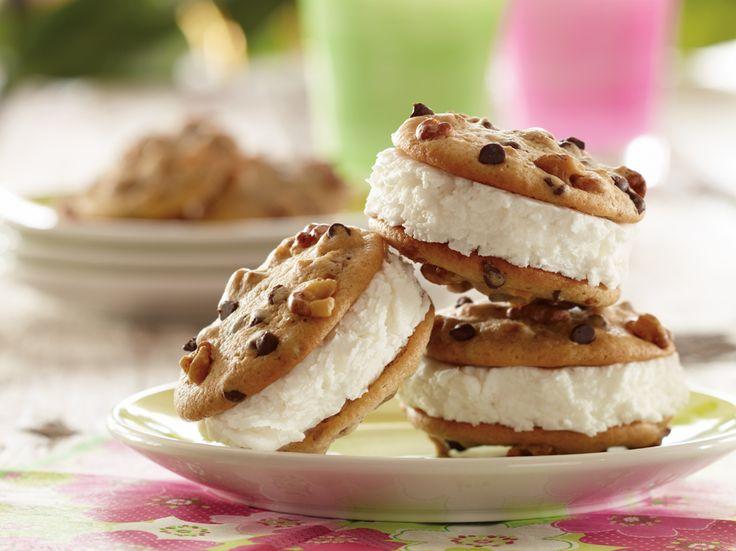Honey Walnut Ice Cream Sandwiches