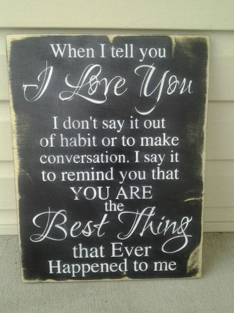 I love you signs anniversary gifts christmas wood signs for Home decor quotes signs