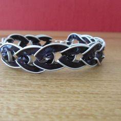 Bracelet fantaisie capsules nespresso couleur violet