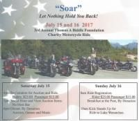 Wenatchee, WA - July 15 & 16, 2017: Thomas A Biddle Foundation Charity Motorcycle Ride. Brings awareness to PTSD and support the families left behind due to PTSD/Suicide.