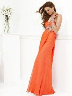A-Line/Princess Sweetheart Sleeveless Beading Floor-Length Chiffon Prom Dress