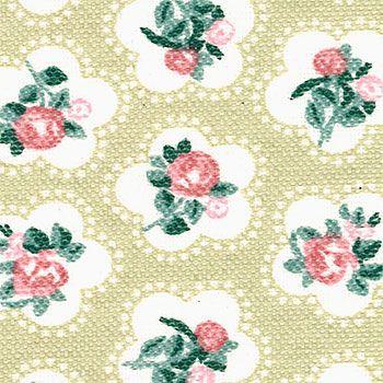 Tekstilvoksdug+støvet+grøn+m+blomster