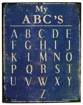 vintage blue board
