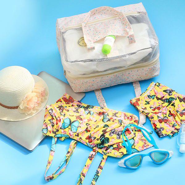 Women Nylon Dry Wet Separation Large Capacity Storage Bag Travel Bag Swimming Ba - US$16.66