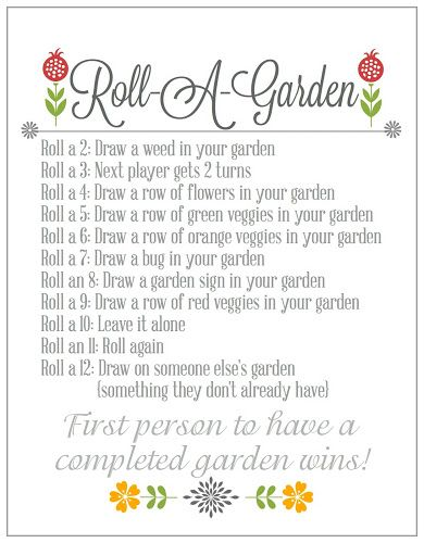 Roll-A-Garden {Game...this lady has so many cute printable game & activities!!  Excited to try this!!