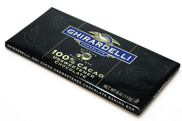 Ghirardelli, 100% cacao.