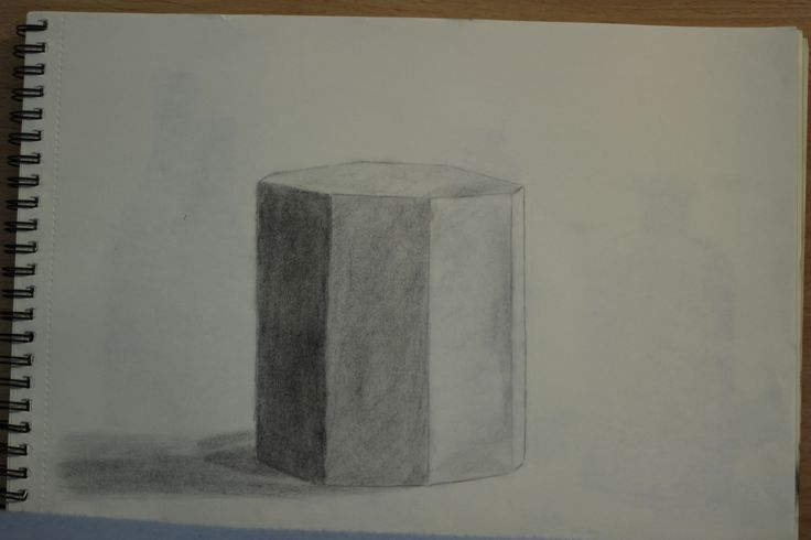 "Dibujo Nº 5, ""Prisma Octogonal"""