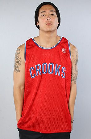The Game Time Jersey in True Red by Crooks and Castles...straight righteousness!