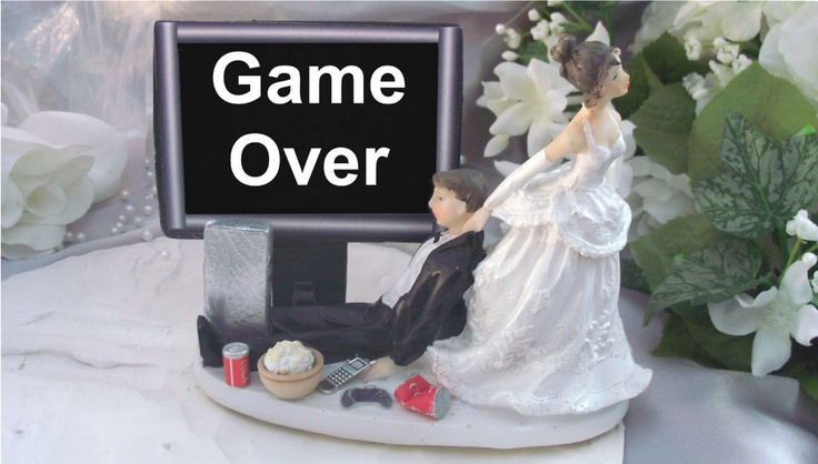 Pc Gaming Wedding Cake Toppers