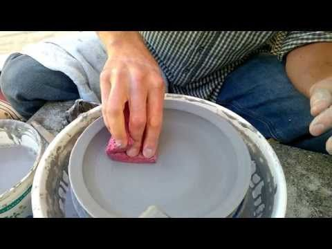 Easy Way to Throw a Plate on the Pottery Wheel - YouTube