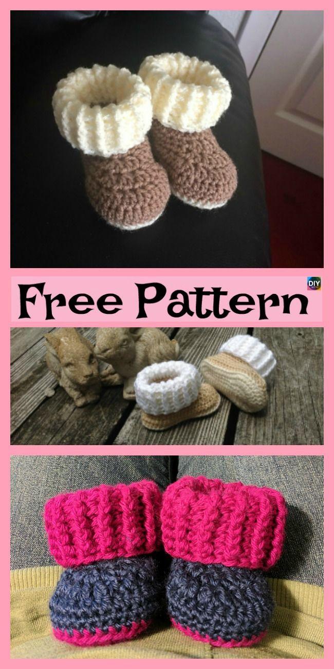 e496e93f2fc96 Crochet UGG style Booties - Free Patterns   Crochet   Crochet baby ...