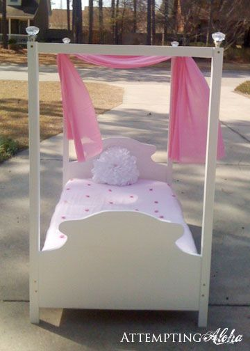 Toddler Canopy Bed | Do It Yourself Home Projects from Ana White