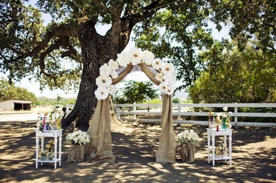 outdoor wedding altars | Kaitlin and Victor's DIY Outdoor Wedding in Sunny California. By ...