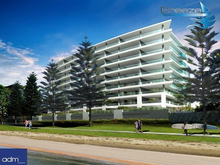 The new BREEZE apartments currently under construction on Prince Edward Parade, Redcliffe. WATERFRONT PROPERTIES REDCLIFFE