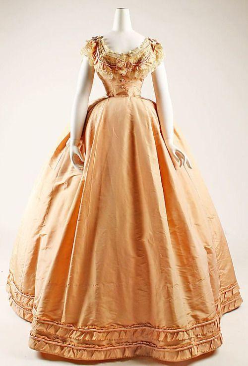Evening dress, 1864, France.