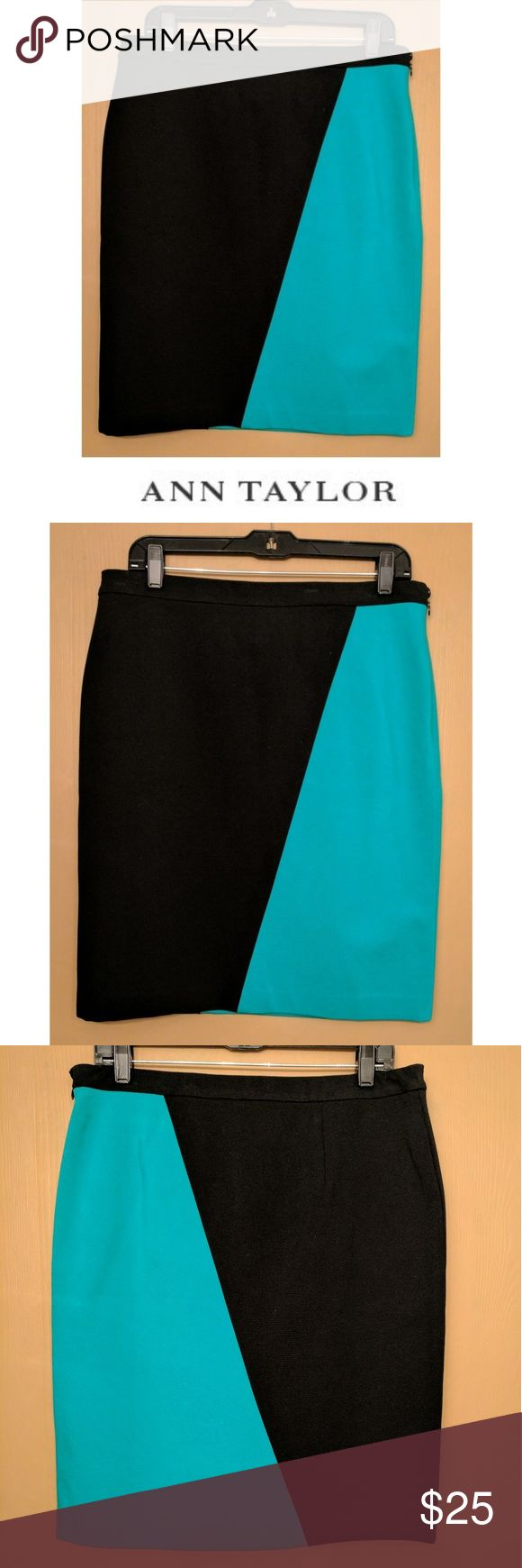 "NWT Ann Taylor Green Black Design Skirt This gorgeous Ann Taylor skirt is perfect for dressing on any occasion! Rayon nylon blend material with 5% spandex for stretch fit. Emerald green and black two toned design, stretch compression spandex waist for comfortable, customized fit. Size 10, 22"" length, waist unstretched measured flat 16.5"". Dress up with heels and blouses, flats and blazers... Possibilities are endless! NWT, UNUSED, NO DAMAGES. Grab yours for less and look sexy in Ann Taylor…"