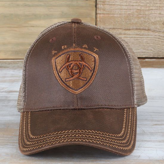 880c1441b Ariat Brown Oilskin Cap in 2019 | More for Him | Country hats, Ariat ...