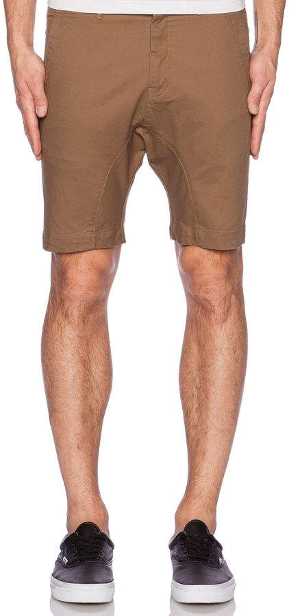 $89, Brown Shorts: Zanerobe Slingshot Short. Sold by Revolve Clothing. Click for more info: https://lookastic.com/men/shop_items/211491/redirect