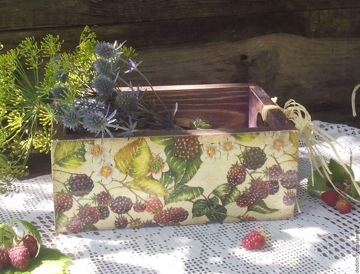 """Купить Короб """"Ежевичный"""" - комбинированный, ежевика, короб, ящик, ящик деревянный, ящик для овощей"""