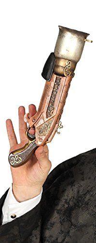 Steampunk - Kids Boys Girls Toy Gun Steampunk Western Rifle Musket Victorian Inventor Fancy Dress Weapon Accessory Prop