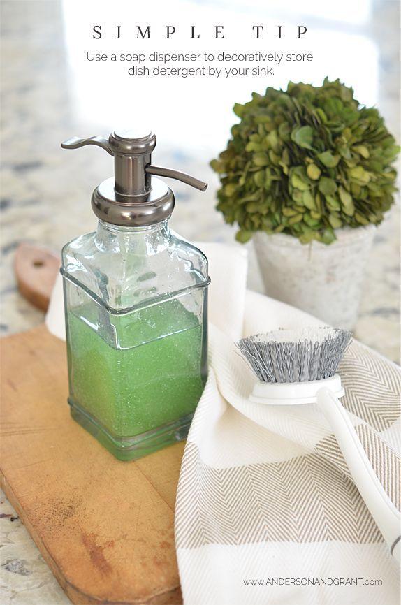 Simple Tip {Quick & Easy Dish Soap Dispenser}