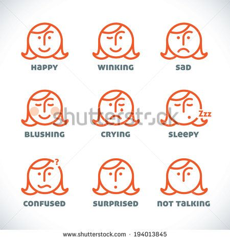 Vector Smiles Icons, Illustration, Sign, Symbol, Button, Badge, Logo for Family, Baby, Children, Teenager, People