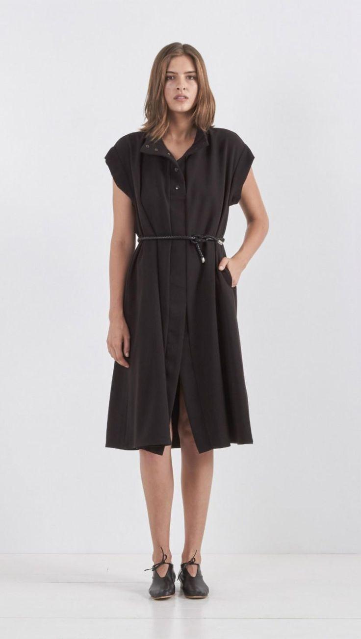 Wal g wrap detail dress with metallic stripe in blue navy lyst - Rachel Comey Oasis Dress In Black The Dreslyn
