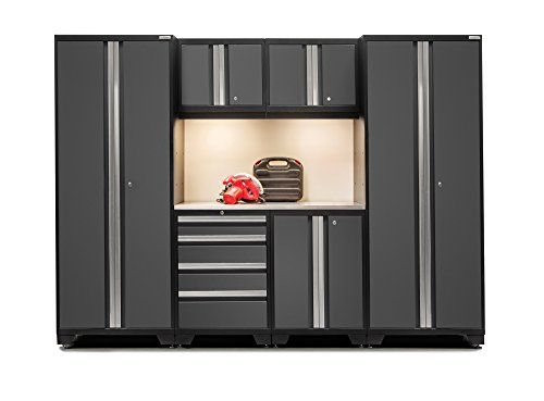 Newage Products Bold 3.0 24-Guage Welded Stainless Steel Worktop Cabinet Set (7-Piece) Gray For Sale https://garagestorageusa.info/newage-products-bold-3-0-24-guage-welded-stainless-steel-worktop-cabinet-set-7-piece-gray-for-sale/