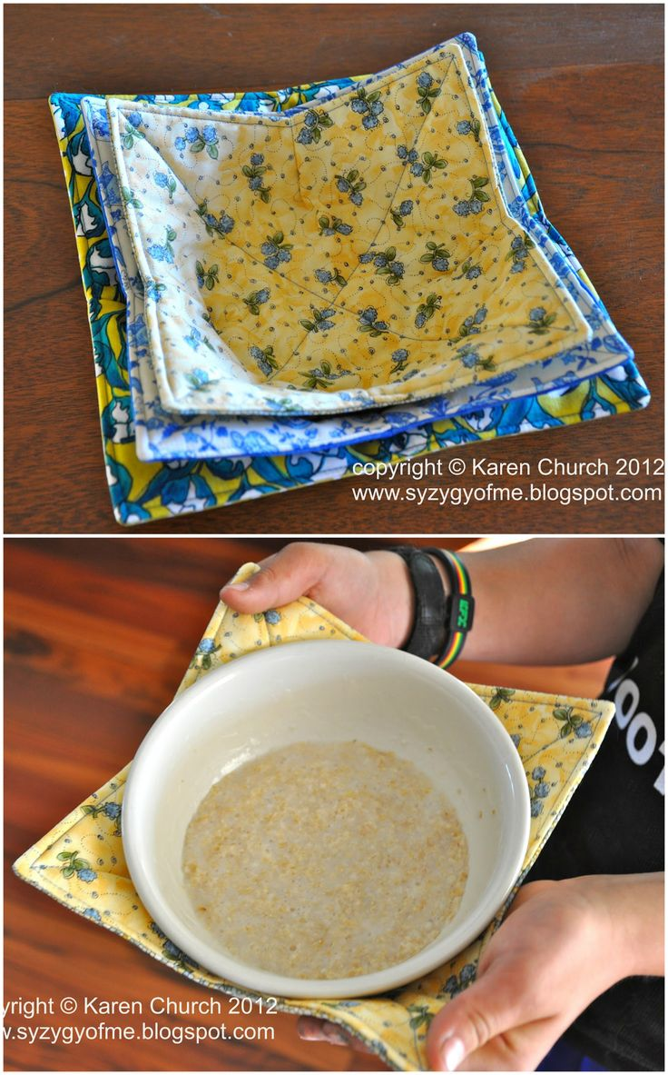 Microwave bowl cozy how-toDonna K. Miles