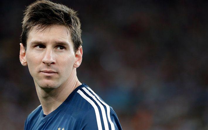 Descargar fondos de pantalla Lionel Messi, Argentina, fútbol, retrato, jugador de fútbol Argentino