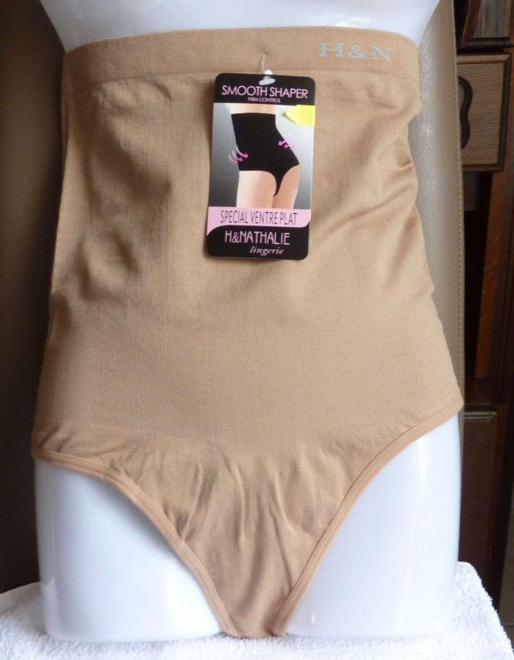 String Gaine Ventre plat  lingerie femme Marron clair taille XL/XXL (42) neuf