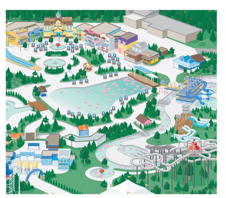 3D Amusement Park Map Illustration (With Images