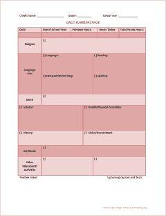 homeschool lesson plan template excel